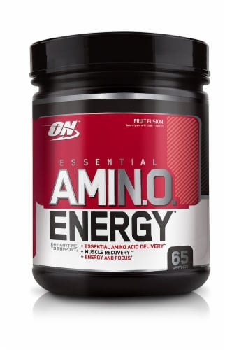 Optimum Nutrition  Essential AMIN.O Energy™   Fruit Fusion Perspective: front