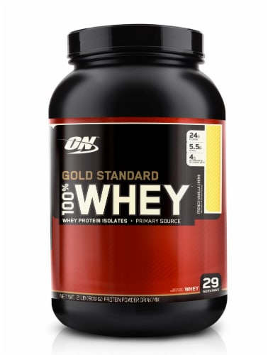 Optimum Nutrition  Gold Standard 100% Whey   French Vanilla Creme Perspective: front