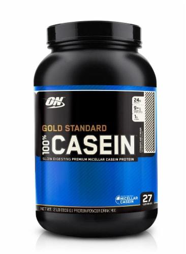 Optimum Nutrition  Gold Standard 100% Casein   Cookies & Cream Perspective: front