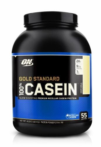 Optimum Nutrition  Gold Standard 100% Casein   Creamy Vanilla Perspective: front