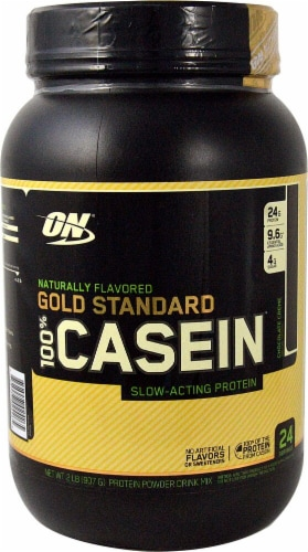 Optimum Nutrition  Gold Standard Natural 100% Casein   Chocolate Creme Perspective: front