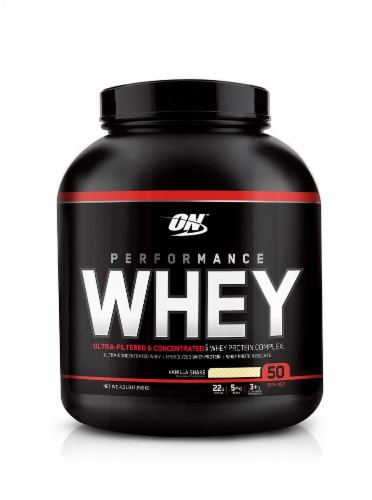 Optimum Nutrition  Performance Whey™   Vanilla Shake Perspective: front