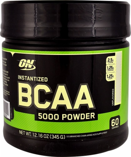 Optimum Nutrition  Instantized BCAA 5000 Powder   Unflavored Perspective: front