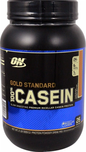 Optimum Nutrition  Gold Standard 100% Casein   Chocolate Peanut Butter Perspective: front