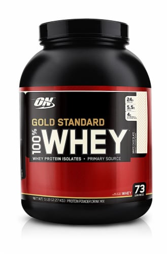 Optimum Nutrition  Gold Standard 100% Whey   White Chocolate Perspective: front