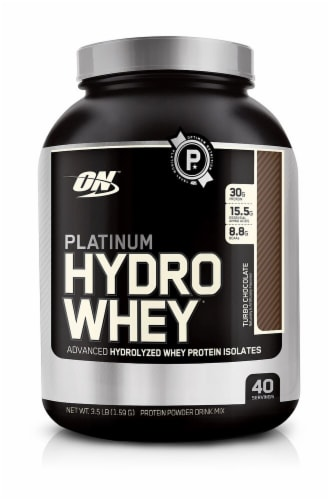 Optimum Nutrition  Platinum Hydrowhey®   Turbo Chocolate Perspective: front