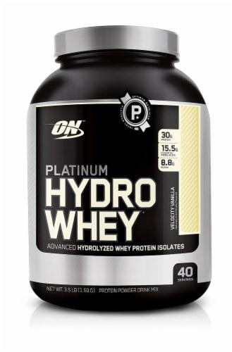 Optimum Nutrition  Platinum Hydrowhey®   Velocity Vanilla Perspective: front