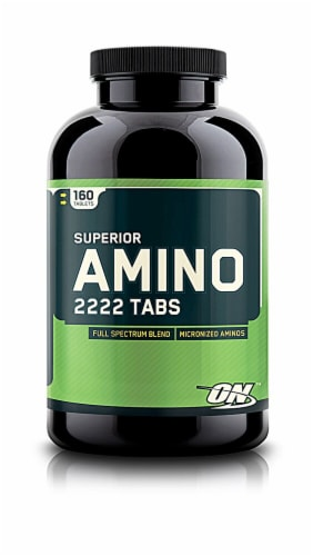 Optimum Nutrition  Superior Amino 2222 Tabs Perspective: front