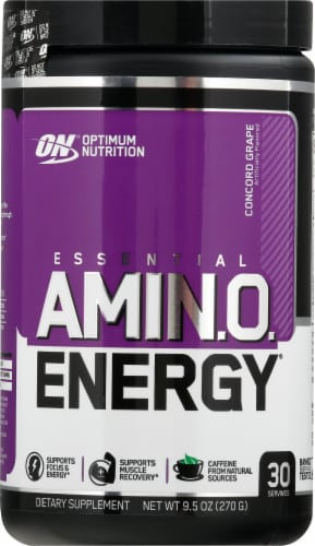 Optimum Nutrition  Essential AMIN.O Energy™   Concord Grape Perspective: front