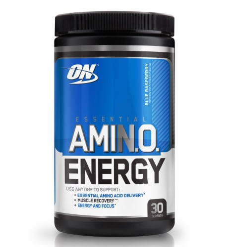 Optimum Nutrition  Essential AMIN.O Energy™   Blue Raspberry Perspective: front