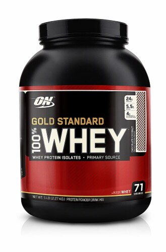 Optimum Nutrition  Gold Standard 100% Whey   Chocolate Coconut Perspective: front