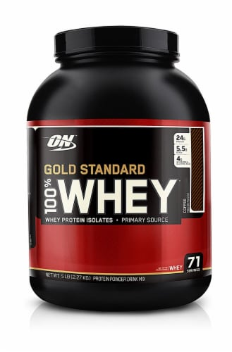 Optimum Nutrition  Gold Standard 100% Whey   Coffee Perspective: front