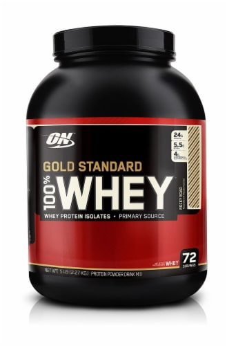 Optimum Nutrition  Gold Standard 100% Whey   Rocky Road Perspective: front