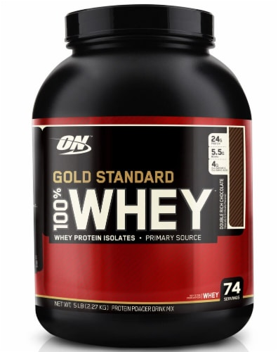 Optimum Nutrition  Gold Standard 100% Whey   Double Rich Chocolate Perspective: front