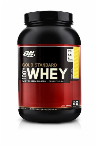 Optimum Nutrition  Gold Standard 100% Whey   Banana Cream Perspective: front