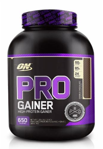 Optimum Nutrition Pro Double Chocolate Flavored High-Protein Gainer Perspective: front