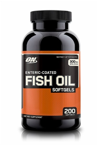 Optimum Nutrition  Enteric-Coated Fish Oil Softgels Perspective: front