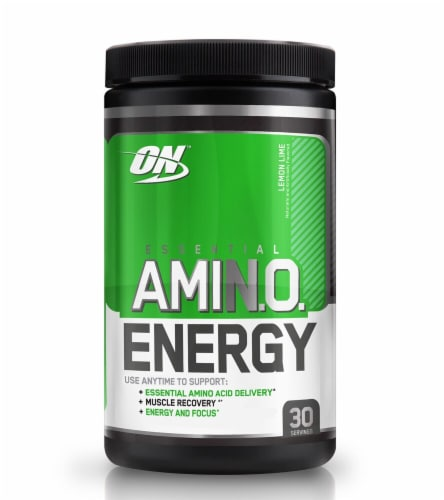 Optimum Nutrition  Essential AMIN.O Energy™   Lemon Lime Perspective: front