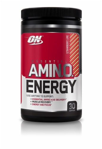 Optimum Nutrition  Essential AMIN.O Energy™   Strawberry Lime Perspective: front