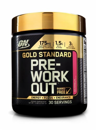 Optimum Nutrition  Gold Standard Pre-Workout   Watermelon Perspective: front