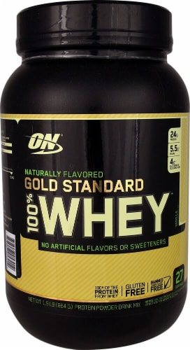 Optimum Nutrition  Gold Standard 100% Whey™ Naturally Flavored   Vanilla Perspective: front