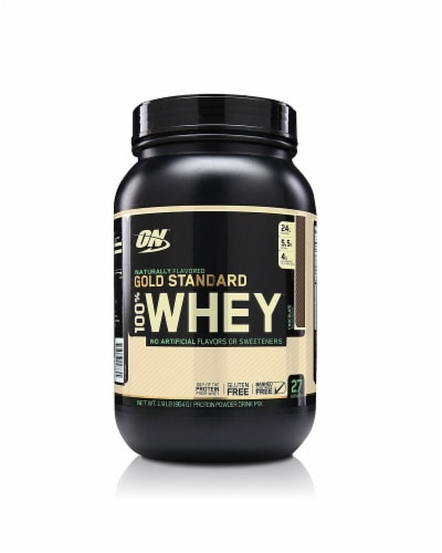 Optimum Nutrition  Gold Standard 100% Whey™ Naturally Flavored   Chocolate Perspective: front