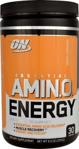 Optimum Nutrition  Essential AMIN.O Energy™   Peach Lemonade Perspective: front