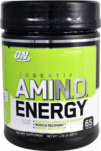 Optimum Nutrition  Essential AMIN.O Energy™   Green Apple Perspective: front