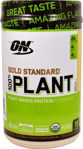 Optimum Nutrition  Gold Standard® 100% Plant Protein   Vanilla Perspective: front