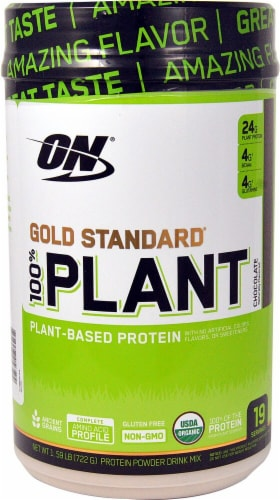 Optimum Nutrition  Gold Standard® 100% Plant Protein   Chocolate Perspective: front