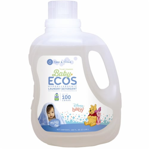 Baby ECOS Free & Clear Laundry Detergent Perspective: front