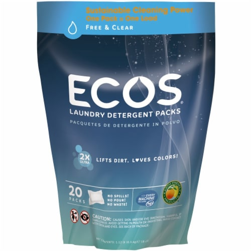 ECOS Free And Clear Laundry Detergent Pods Perspective: front