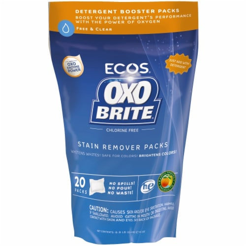 Earth Friendly Products Oxo Brite Free & Clear Oxygen & Enzyme Laundry Booster Pods Perspective: front