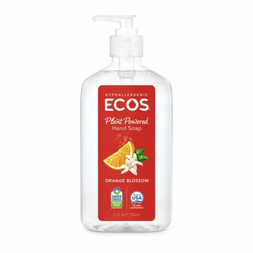 Ecos Orange Blossom Hand Soap Perspective: front