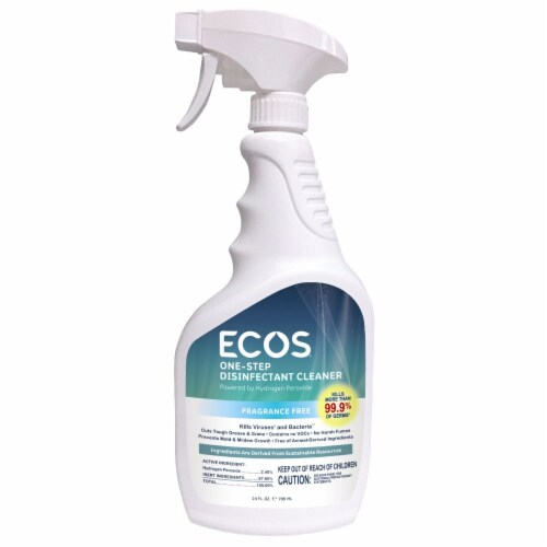 ECOS® One-Step Disinfectant Fragrance Free Cleaner Perspective: front