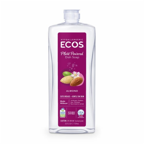 ECOS Almond Dishmate Dish Soap Perspective: front