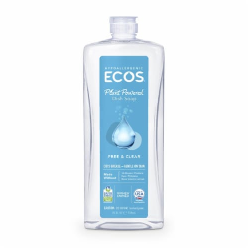 ECOS Dishmate Free & Clear Dish Soap Perspective: front