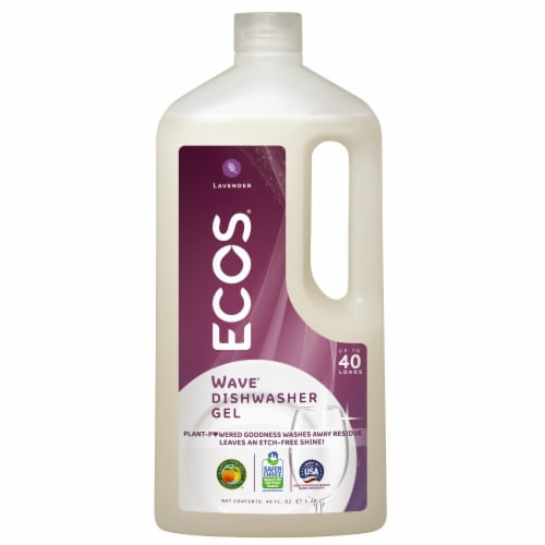 ECOS Wave Lavender Auto Dishwasher Gel Perspective: front