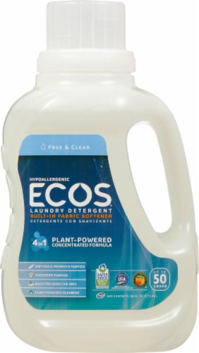 ECOS 2x Free & Clear Laundry Detergent Perspective: front