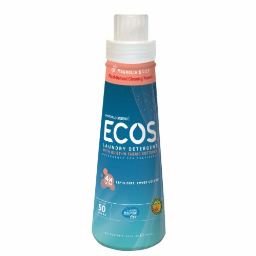 ECOS 4x Concentrated Magnolia & Lily Liquid Laundry Detergent Perspective: front