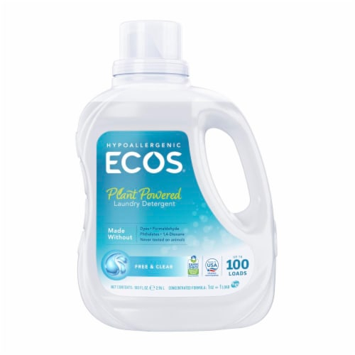 ECOS 2x Free and Clear Laundry Detergent Perspective: front
