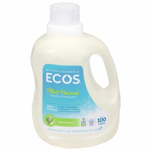 ECOS 2x Lemongrass Liquid Laundry Detergent Perspective: front