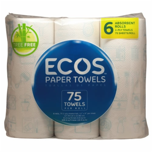 Earth Friendly ECOS Paper Towels 2-Ply Perspective: front