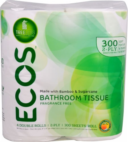 Earth Friendly ECOS 2-Ply Toilet Paper Fragrance Free Perspective: front