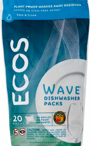 Earth Friendly Products Wave Automatic Dishwasher Detergent Pods Perspective: front
