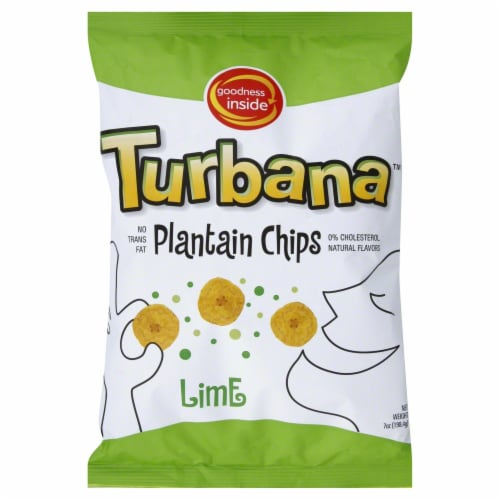 Turbana Plantain Lime Chips Perspective: front