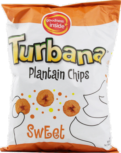 Turbana Plantian Chips Sweet Perspective: front