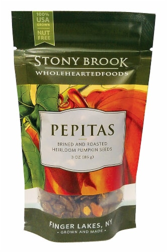 Stony Brook  Roasted Pumpkin Seeds Pepitas Gluten Free   Original Perspective: front