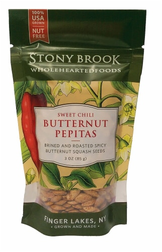 Stony Brook  Roasted Butternut Squash Seeds Pepitas Gluten Free   Sweet Chili Perspective: front