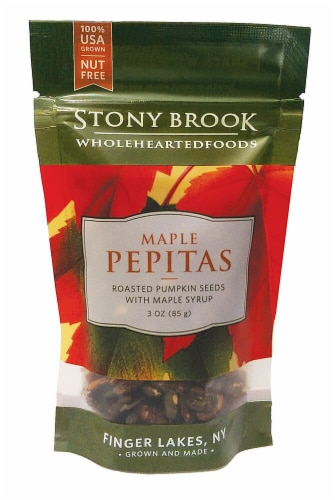 Stony Brook  Roasted Pumpkin Seeds Pepitas Gluten Free   Maple Perspective: front